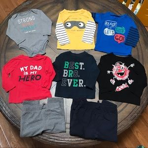 🏀Infant boys size 12-18 mo 8pc bundle lot🏈
